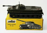 Solido Diecast URSS Military Army Tank RUSSE PT 76 Char Amphbie 1962 Made France