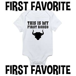 This Is My First Rodeo Baby Onesie Bull Riding Cowboy Infant Newborn Gerber