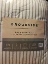 Brookside Down Alternative Chambray Comforter Set( XL-Twin)