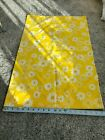 vintage floral pequot single standard pillowcase 50/50 blend flowers yellow