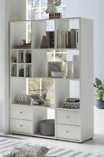 Wilmes: Raumteiler 13 Fächer / 4 Schubladen - Wohnzimmerregal Bücherregal - Weiß