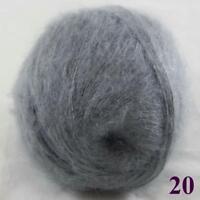 Sale New 1Skein X50gr Mohair Angora Cashmere Warm Wrap Stole Hand Knit Yarn 20