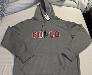 ***2XLT*** POLO RALPH LAUREN Polo Spell Out & Big Pony Hoodie Sweatshirt in Grey