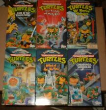 Teenage Mutant Ninja Turtles Cartoons VHS Lot (6) LOOK!!