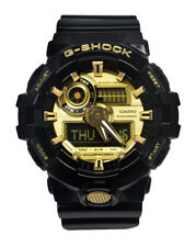 Casio GA710GB-1A G-Shock Black Gold Analog Digital Dial Resin Band Watch
