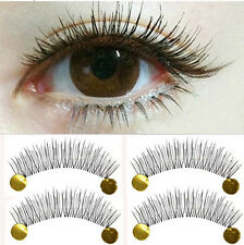 10 Pairs Reusable False Eyelashes Thick Fake Long Cross Eyelash Extension Makeup