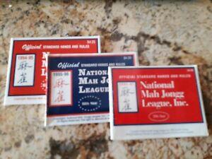 Vintage 1994-95 96 97 NATIONAL MAH JONGG Mahjong RULES GAME CARD 57 58 59th Year