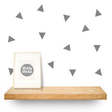 Triangle Wall Stickers - 3 Sizes  & 22 colours available - FREE Uk delivery