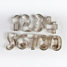 Cutters - Number Metal Cutters - 10 Pieces