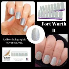Color Street Fort Worth It 100% nail polish strips Silver Glitter