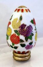 White egg with flowers - Franklin Mint Treasury of Eggs - Satsuma