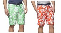 NWT Mens Chaps Hibiscus Print Board Shorts Swim Trunks Green Size L