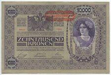 GB642 - Paper Money Austria 10.000 Kronen 1919 Pick#59 VF Deutsch-Österreich