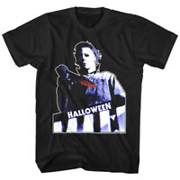 Halloween Horror Movie Michael Myers Bloody Knife Mens T Shirt Film Series Scary