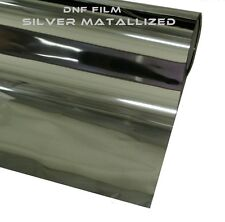 """ONE WAY SILVER MIRROR REFLECTIVE 2 PLY WINDOW TINT 5% 60"""" X 100 FEET - FREE GIFT"""