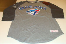 Toronto Blue Jays MLB Baseball 3/4 Raglan Shirt Mitchell Ness Medium Retro Logo