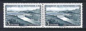 El Salvador 1954 Sc# 660 Guayabo dam pair MNH