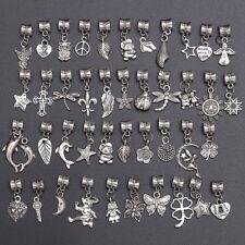 40pcs Lot 925 Tibetan Silver Spacer Bead Fit European Chain Bracelet Necklace