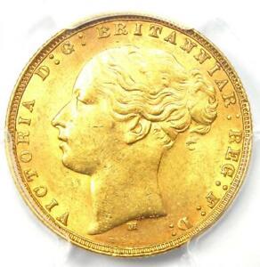 1874-M Australia Victoria Gold Sovereign St. George Coin 1S - PCGS MS61 (BU UNC)