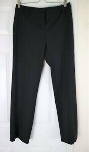 Marella Black Wool Blend Stretch Slim Straight Leg Work Formal Trousers UK 12