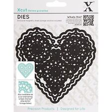 DOCRAFTS XCUT DIES VINTAGE NOTES FILIGREE HEART - NEW UNIVERSAL FIT