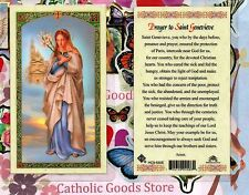 St. Saint Genevieve with Prayer to St. Genevieve - Laminated Holy Card