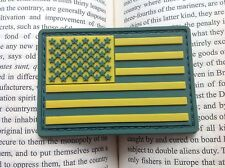 New listing 3D Pvc Green Color Us Flag United State Tactical Army Morale Rubber Patch