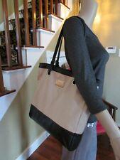 NINE WEST Black & Tan Tote Handbag Shoulder Purse