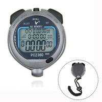 Handheld Sports Digital Stopwatch Stop Watch Memory Timer Alarm Counter US
