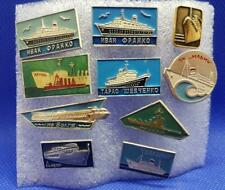 10 Lot Ship Boat Submarine Russia Soviet USSR Pin Badge Old 2
