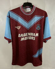 West Ham United Home Football Shirt 1993/95 Adults Medium Pony C936