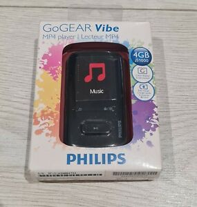 Philips GoGear Vibe MP3 MP4 Player 4GB LCD Display USB Audible Music Fast Charge