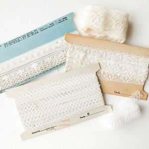 Lot Of Vintage Lace Trim Crafting Sewing