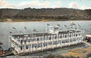 Maysville Kentucky Floating Theatre New Sunny South Steamer Postcard AA35712