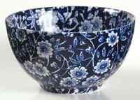 Staffordshire CALICO BLUE (BURLEIGH STAMP) Mini Open Sugar Bowl 884923