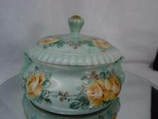 HAND PAINTED & Designed Covered Candy Dish ARTIST SIGNED 30s or 40s EC