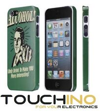Cover per Iphone 5 5s SE ALCOHOL ONLY DRINK Locandina Retro vintage USA Alcol