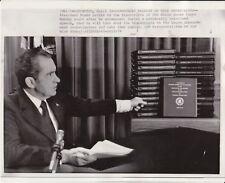 April 29th, 1974 Nixon Releases Watergate Tapes - Original AP News Photograph