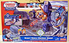 Thomas & Friends Thomas the Train Trackmaster Risky Rails Bridge Drop Set NIB