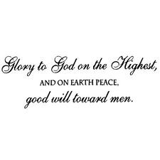 Christmas UNMOUNTED rubber stamp GLORY TO GOD PEACE ON EARTH, bible verse 7