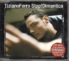 TIZIANO FERRO raro CD single 4 tracce 2006 STOP DIMENTICA + REMIX made in EU