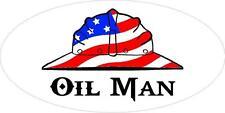 3 - Oil Man US Flag Hard Hat Roughneck Oilfield Toolbox Helmet Sticker H251