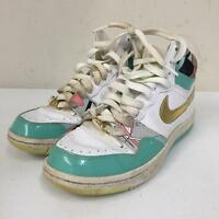 Nike Court Force Hi Mens Size 8 316117-173 Gold Blue White Shoes