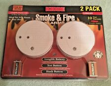 NEW Kidde 0916LLNT Smoke & Fire Alarms - 2 Pack Brand New SEALED with Batteries