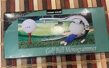 Nwt Golf Ball Monogrammer Three Letter