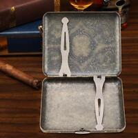 Exquisite Retro Bronze Metal Tobacco 20 Cigaret Cigarette Case Box Holder Gift