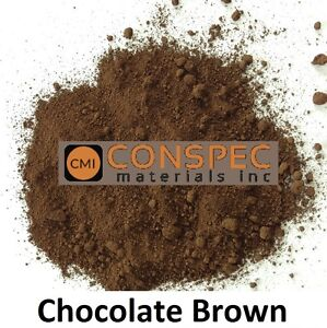 CHOCOLATE BROWN Concrete Color Pigment Dye for Cement Mortar Grout Plaster 1 LB