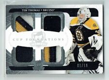11-12 UD The Cup Foundations  Tim Thomas  1/10  First Card  Quad Patches