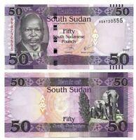 SOUTH SUDAN 50 Pounds (2017) P-14c UNC Banknote Paper Money