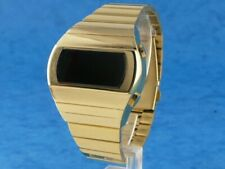 GOLD KOJAK TELLY SAVALAS 70s Old Vintage Style LED DIGITAL Rare Retro Watch